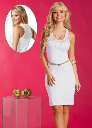 Vestido Com Renda Nas Costas Branco