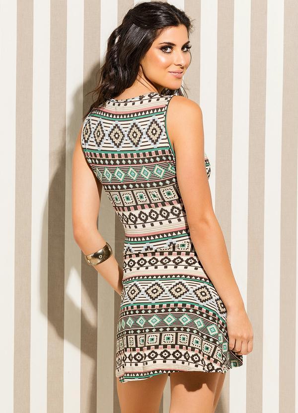 Vestido curto tnico quintess outlet for Etnico outlet