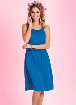 Vestido De Alça Azul