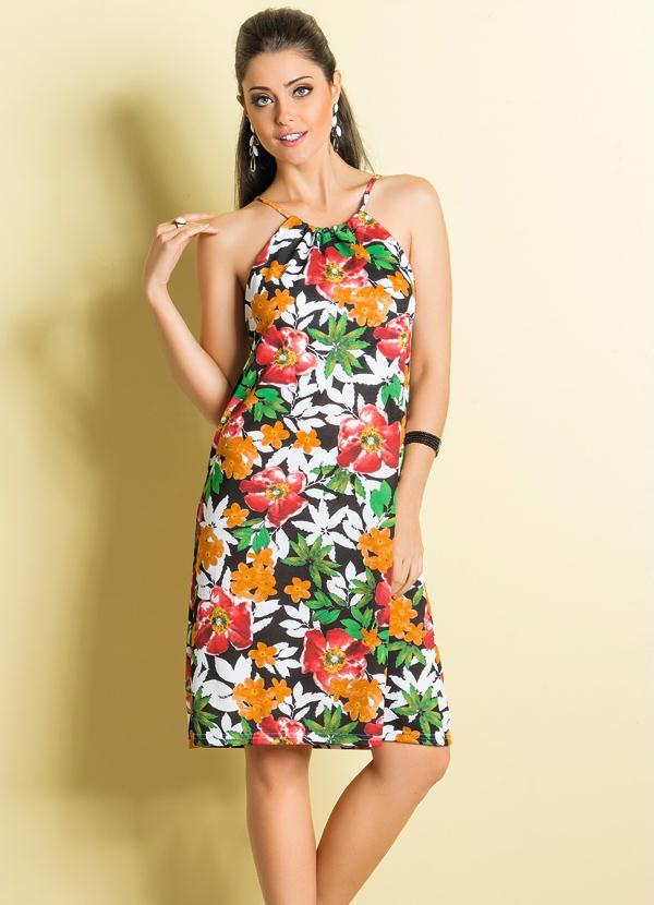 0a0bdec3ab Queima estoque - Vestido de Alça Estampa Floral - Queima de Estoque