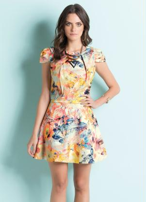 Vestido Godê Mix Floral