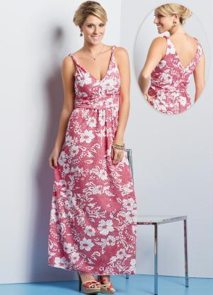 Vestido Longo Floral Com Decote Em V