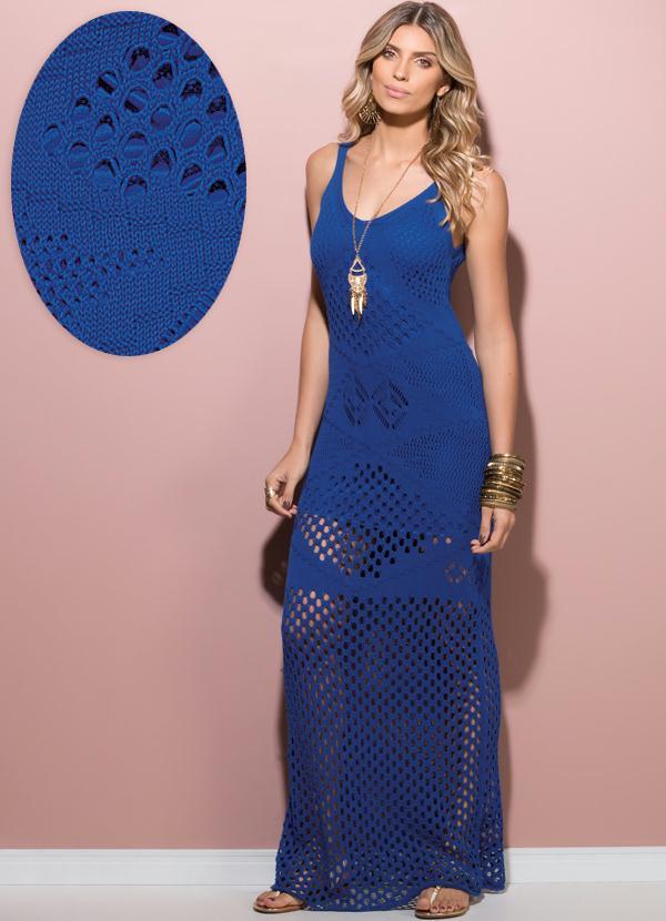 Vestido longo bege com azul – Modelos con estilo de vestidos en 2018 ...