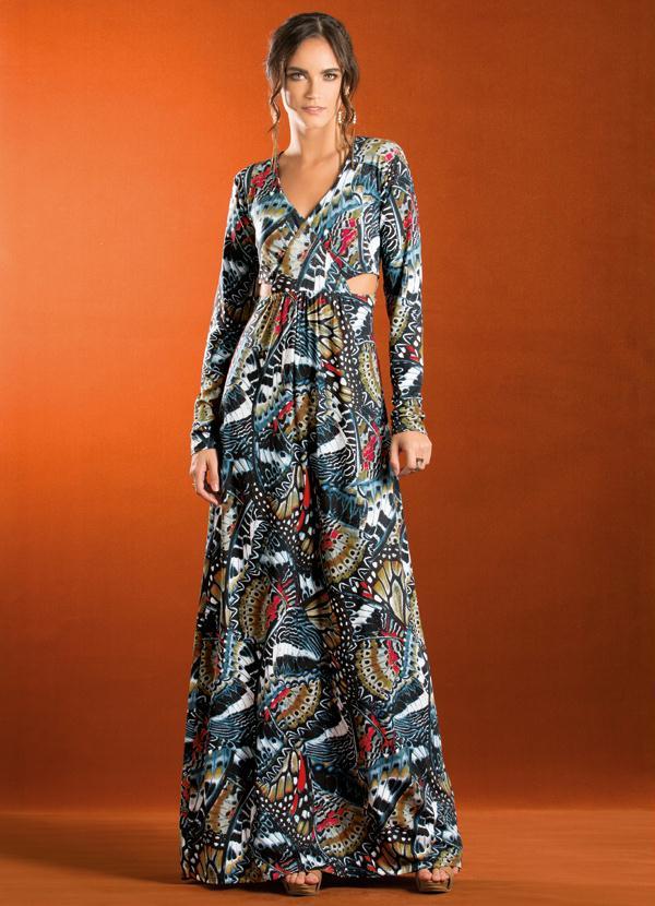 Vestido longo em malha comprar