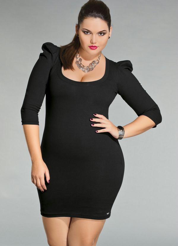 Fotos de vestido preto com manga