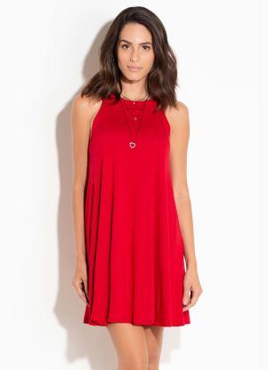 Vestido Trapézio Vermelho