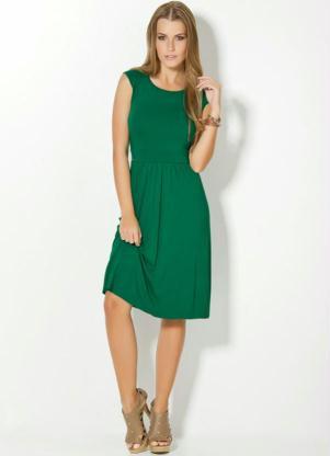Vestido Verde Com Recortes Abaixo Do Busto