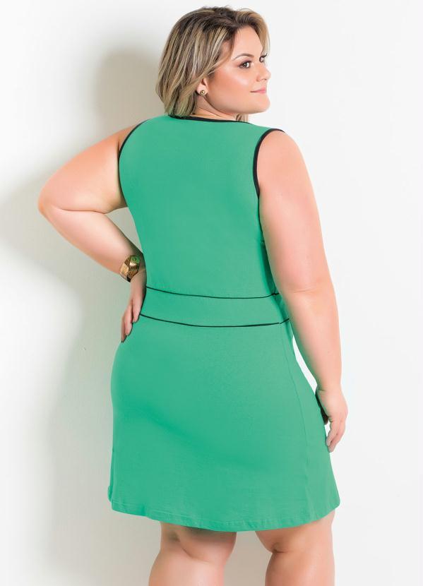 selección premium ca331 f07c5 Marguerite - Vestido Verde e Preto Plus Size