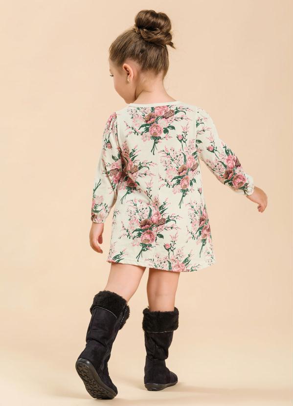 e5753171d Moda pop - Vestido Bebê Estampa Floral - Moda Pop