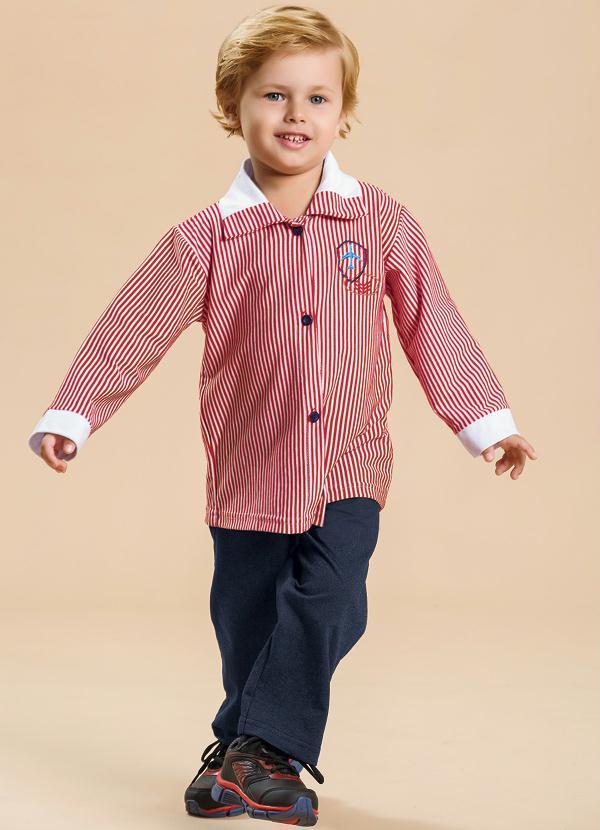 13f051feeb Conjunto Bebê Menino Azul e Vermelho - Moda Pop