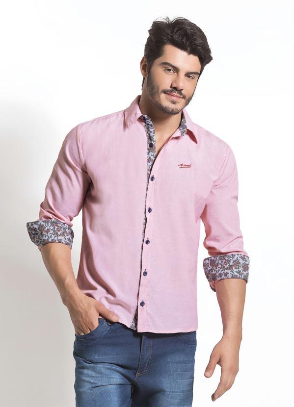 de088f9afcd47 Camisa Social Rosa - Actual
