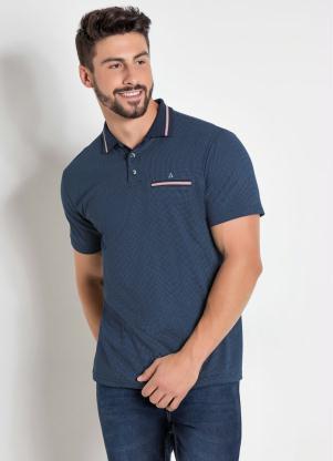 a8601fe4df Actual - Camisa Polo Estampada com Detalhe Bordado