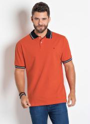 Camisa Polo Actual Laranja em Piquet