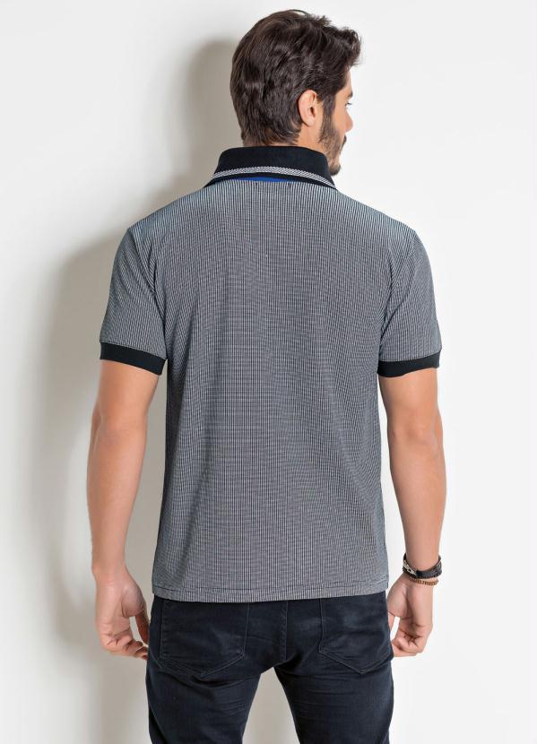 a6fd9c6d5b Actual - Camisa Polo Estampada com Detalhe Bolso e Gola - Actual
