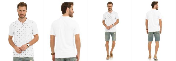 0.0 Camisa Polo Branco Rovitex 01dfcd9d52085