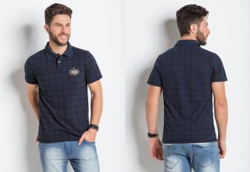 Camisa Pólo Masculina - Compre Online  a829b189f31a5