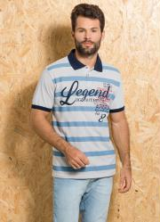 Camisa Polo Gelo com Estampa de Listra e Escrita 724b993ce1d1f