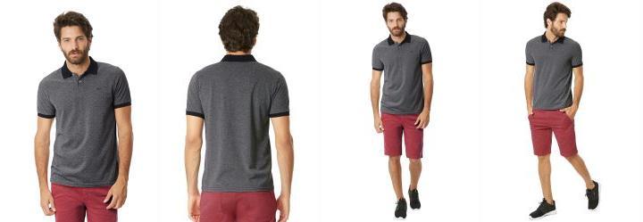 camisa polo slim social size plus estilo burg manga longa masculina c0b16343f4777