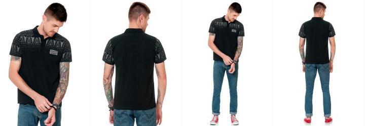 a46e7b93fb 0.0 Camisa Polo Preto Fakini Fkn Menswear