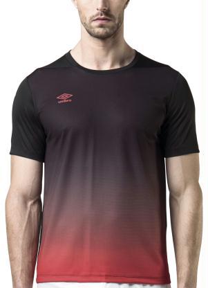 Camiseta Umbro Twr Degrade Preta e Vermelha Rally 24440c327e26c