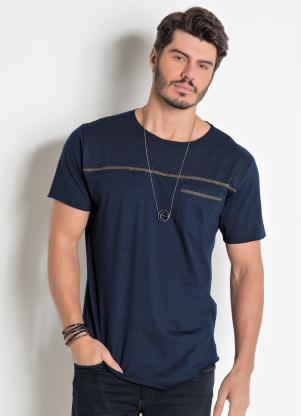 08ed30d47 Camiseta Actual Marinho com Detalhe Frontal