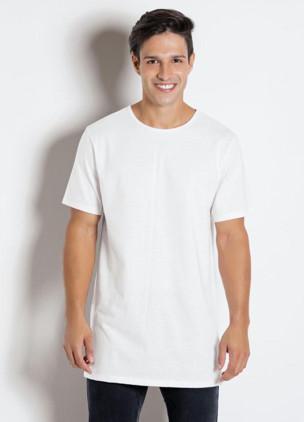 Queima de Estoque - Camiseta Branca com Estampa Frontal Fé - Queima ... f88a14377c4a8