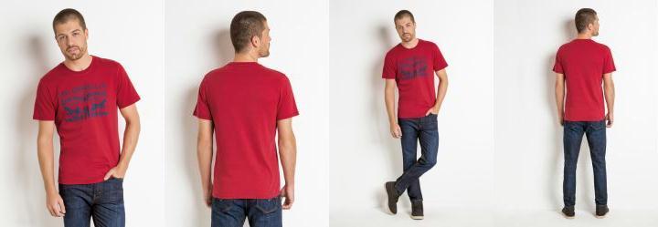 0.0 Camiseta Levis Vermelha com Estampa Frontal 4ad50832128ba