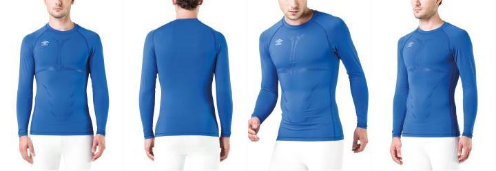 01bf369b08 0.0 Camisa Térmica Umbro Graphic Azul Manga Longa