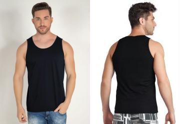 Moda Pop. 0.4809359014034271 Regata Básica Masculina Preta 6ba37a4a15f