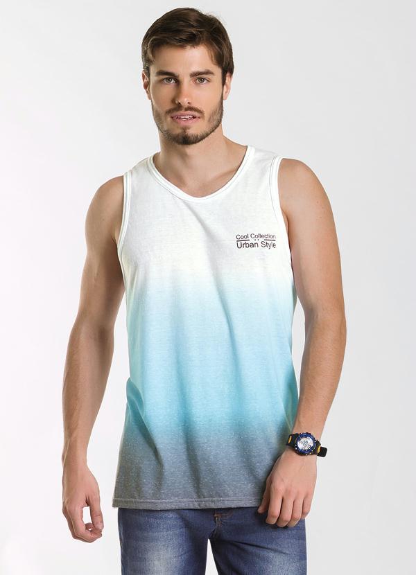 2daf965bcd37d Regata Degradê Branco e Azul - Actual