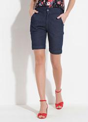 Short Quintess Jeans com Bolsos Laterais