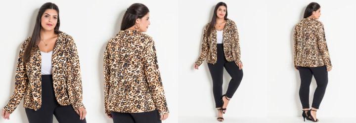 848d71e8b 0.7301537394523621 Blazer Animal Print Onça Plus Size Marguerite