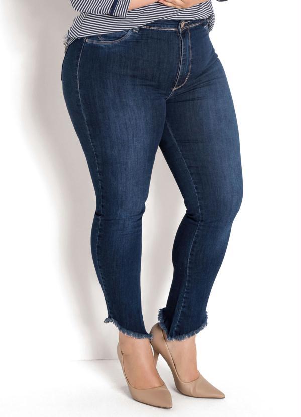 3636eb651f Sawary jeans - Calça Cigarrete Plus Size Barra Desfiada Jeans - Sawary Jeans