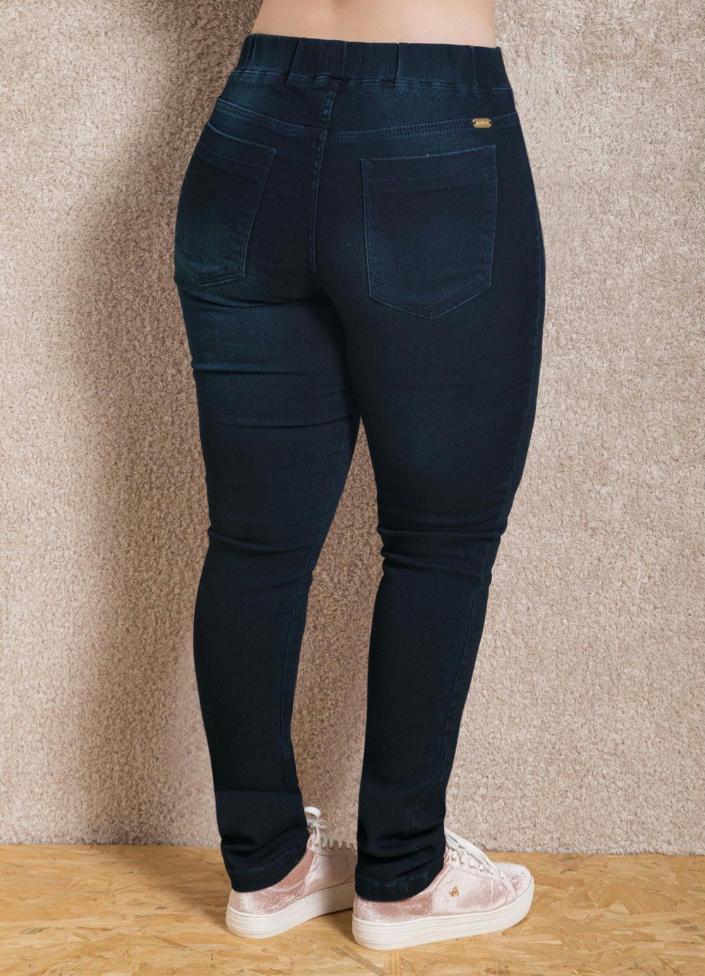42a03434050a9 Calça Jeans Escuro Quintess Cintura Alta - Quintess