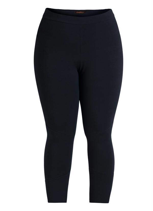 Calça Legging Preta Plus Size - Quintess Outlet 709f418a1ea