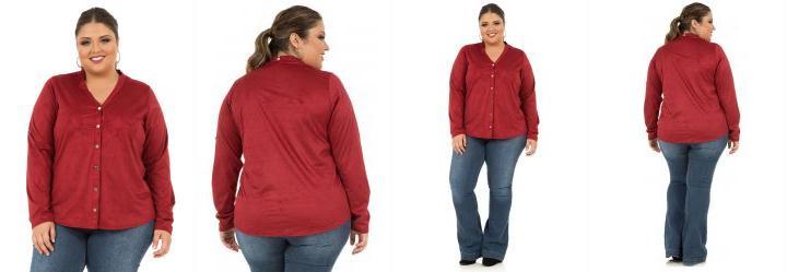 Camisa Manga Longa Vermelho Merlot Rovitex