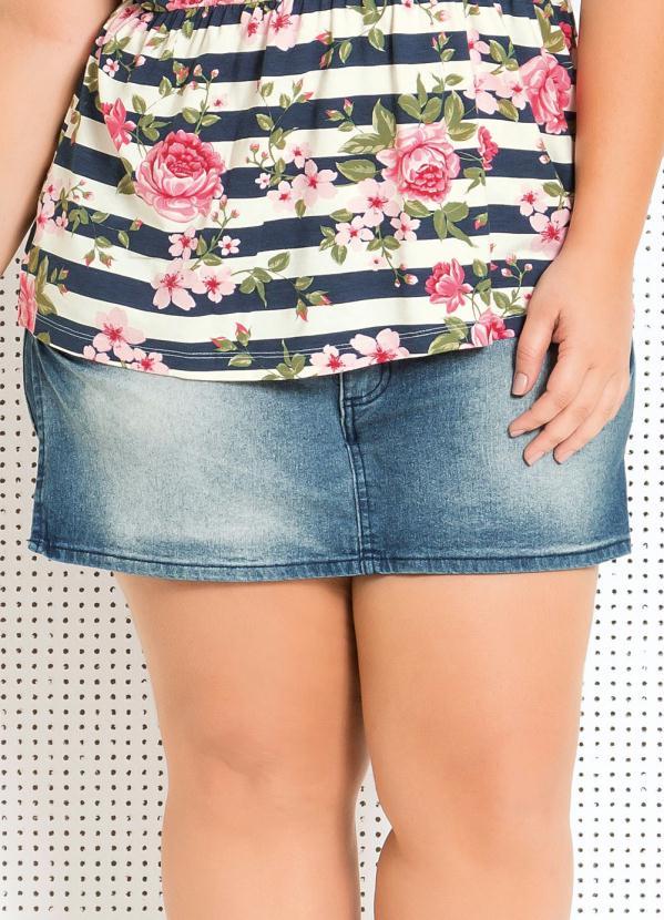 Short Saia Jeans Plus Size - Quintess
