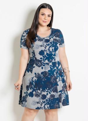 7f5c59afc produto Vestido com Gota Plus Size Floral