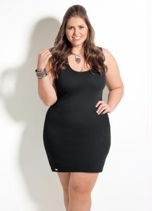 Vestido Tubinho Quintess Preto Plus Size