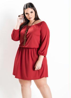 Vestido Ciganinha Vermelho Plus Size