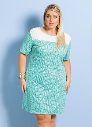 Vestido Marguerite Estampa Gravataria Plus Size