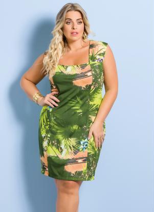 Vestido Tubinho Marguerite Estampa Tropical