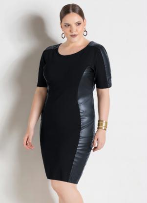 Vestido Tubinho Preto Plus Size