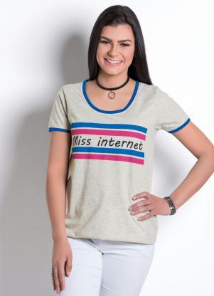50a4229c1 Moda Pop - Blusa Juv Miss Mescla Royal