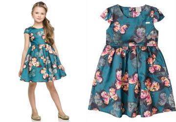 530287ae1 0.5583000779151917 Vestido Infantil em Tecido Azul Quimby