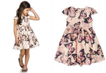 6ff5bd7a1 0.8969510197639465 Vestido Infantil em Tecido Rosa Quimby