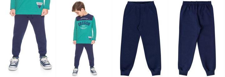Brandili. 0.5337677001953125 Calça Jogger Infantil Menino Mundi Azul 0e4ff102c68