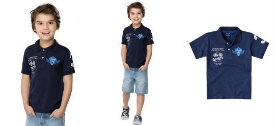 Polo Infantil Azul Quimby