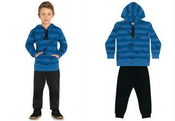 0.0 Conjunto Blusão e Calça Azul Bluemoon Trick Nick 154cfefe841