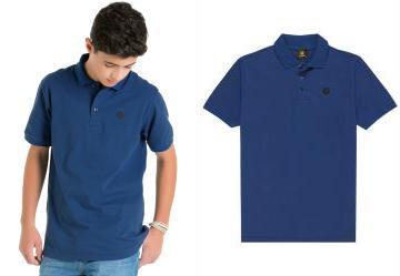 Camisa Polo Teen Azul Lemon